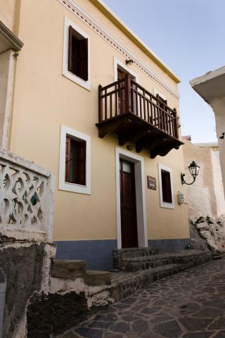Irene's house, in Olympos Karpathos. Extrerior view